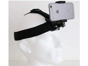 Držák telefonu i akční kamery na hlavu Head strap for smarphone, GoPro 1