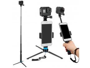 Skvělá voděodolná selfietyč se stativem pro gopro i telefony max 90cm 3