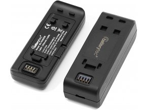 Baterie a duální nabíječka pro Insta360 One R USB C i MicroUSB 2