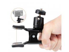 Svorka s kulovou hlavou pro uchycení kamery, foťáku, mobilu apod.01