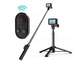 specialni selfie tyc se stativem pro akcni kameru i mobil s ovladanim gopro 10 9 i telefonu 1