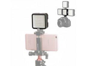 1 Malé led video světlo do sáněk blesku, regulovatelné 64LED