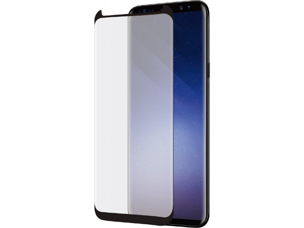 Azuri Curved Glass Rinox Samsung S9 (G960), Black