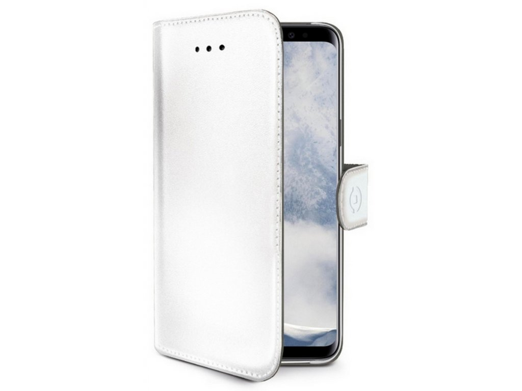 Celly Wally pouzdro PU kůže Galaxy S9 Plus, White