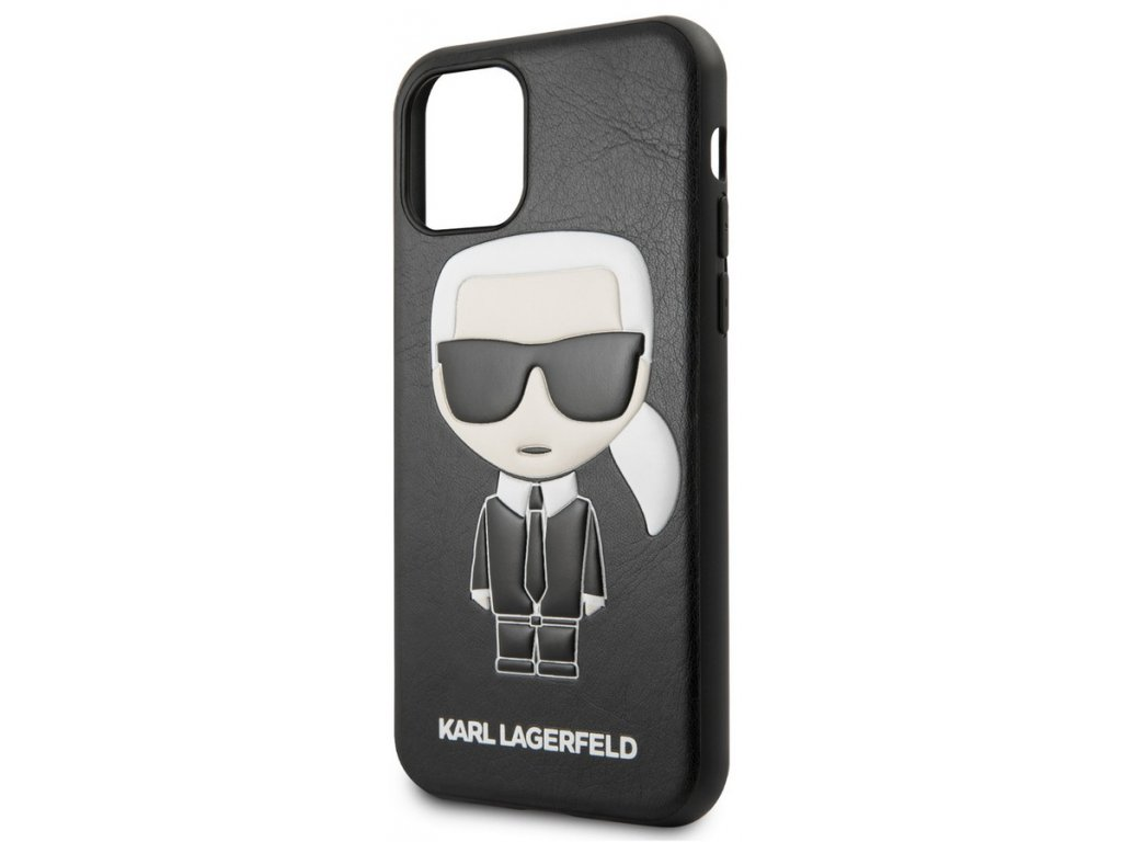 Karl Lagerfeld Embossed Case iPhone 11, Black