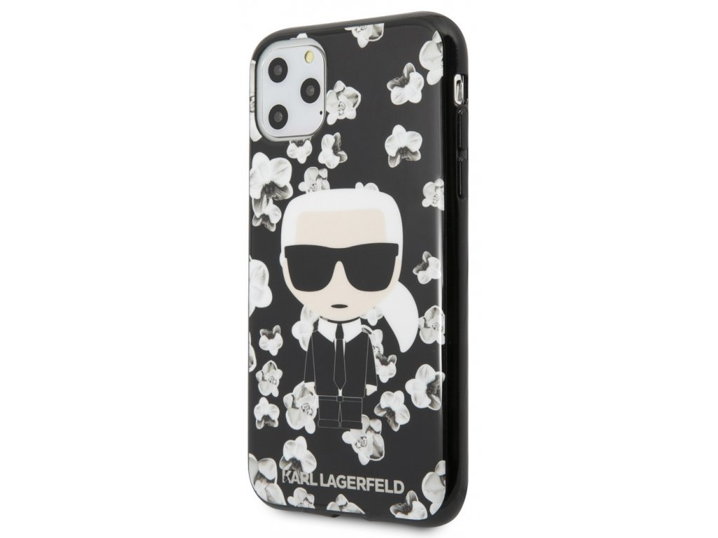 Karl Lagerfeld TPU Flower Case iPhone 11 Pro,Blac