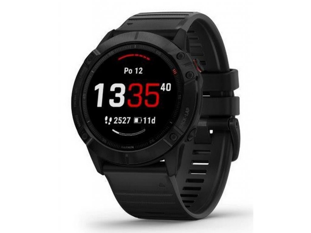 Garmin fenix6x PRO Glass, Black/Black Band (Map/Mu