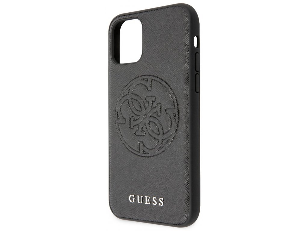 Guess Saffiano Hard Case iPhone 11, Black