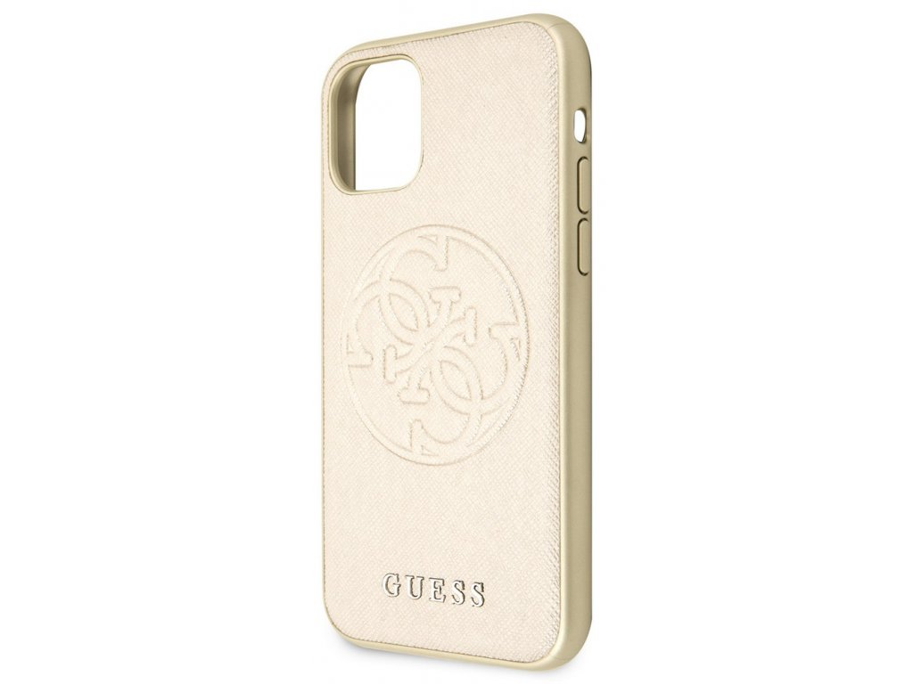 Guess Saffiano Hard Case iPhone 11, Gold