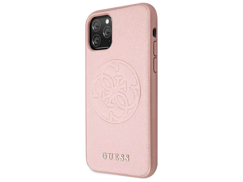 Guess Saffiano Hard Case iPhone 11 Pro, Rose