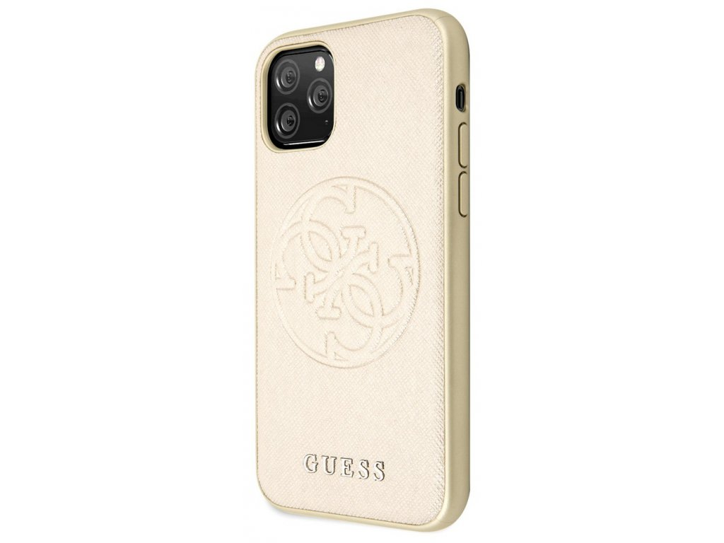 Guess Saffiano Hard Case iPhone 11 Pro Max, Gold