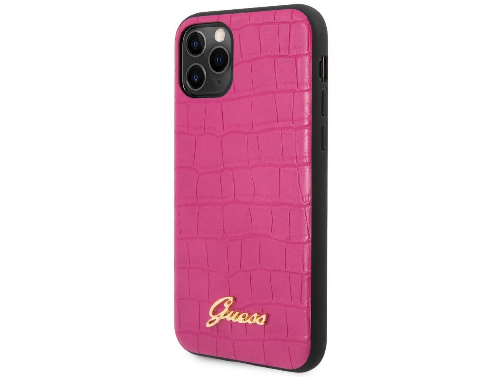 Guess Croco Hard Case iPhone 11 Pro, Pink