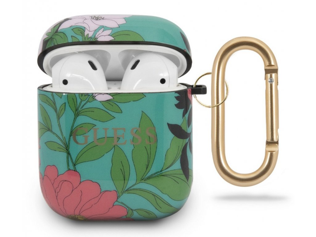 Guess TPU Case Apple Airpods, Floral No.1