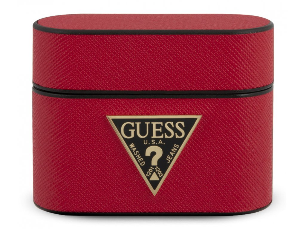 Guess Saffiano Hard Case Apple Airpods Pro, Red