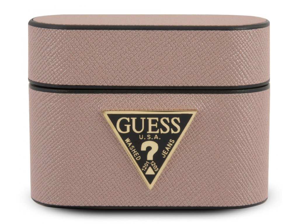 Guess Saffiano Hard Case Apple Airpods Pro, Pink