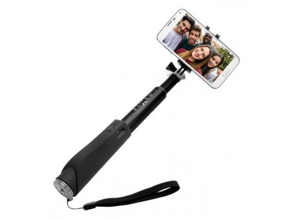 Fixed Bluetooth selfie stick s tlačítkem, Black