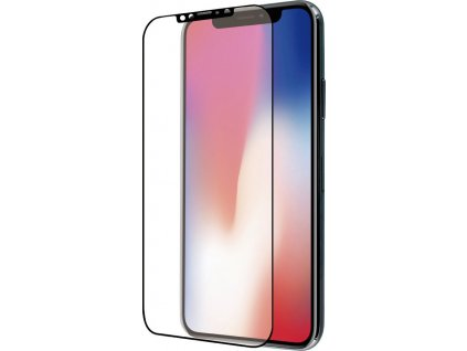 Azuri Curved Temper. Glass Rinox iPhone X/XS,Black