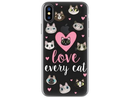 4-OK Cover 4-U TPU pouzdro iPhone X, Love Cats
