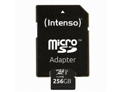 intenso 256gb micro sdxc premium uhs i adapter set97785