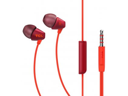 TCL SOCL100 stereo sluchátka In-Ear 3,5mm, Red