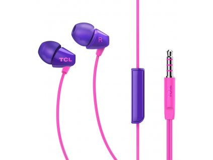 TCL SOCL100 stereo sluchátka In-Ear 3,5mm, Purple