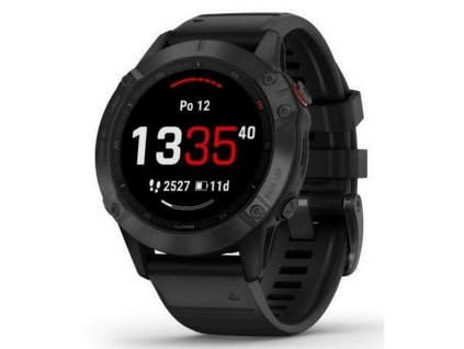 Garmin fenix6 PRO Glass, Black/Black Band (MAP/Mus