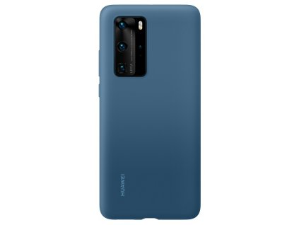 Huawei P40 Pro Silicone Case Blue
