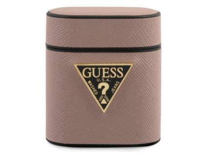 Guess Saffiano Hard Case Apple Airpods, Pink