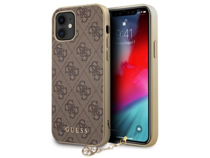 Guess Charms Hard Case 4G iPhone 12 Mini, Brown