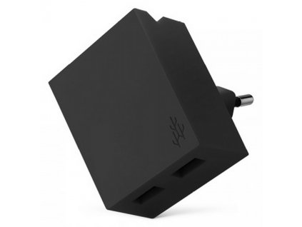 USBEPOWER LUCKY Hub charger 2USB phone stand Black