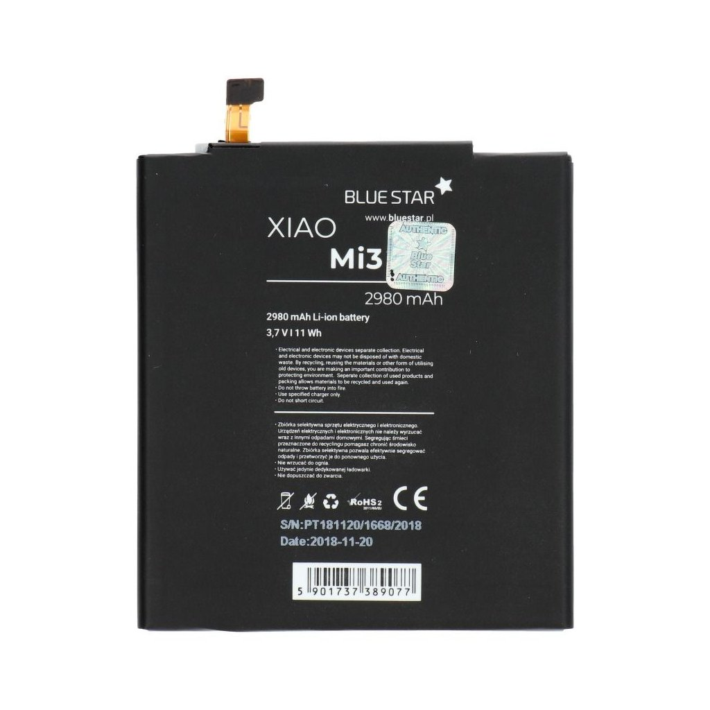 71933 1 baterie blue star xiaomi mi3 2980mah li ion bs bm31