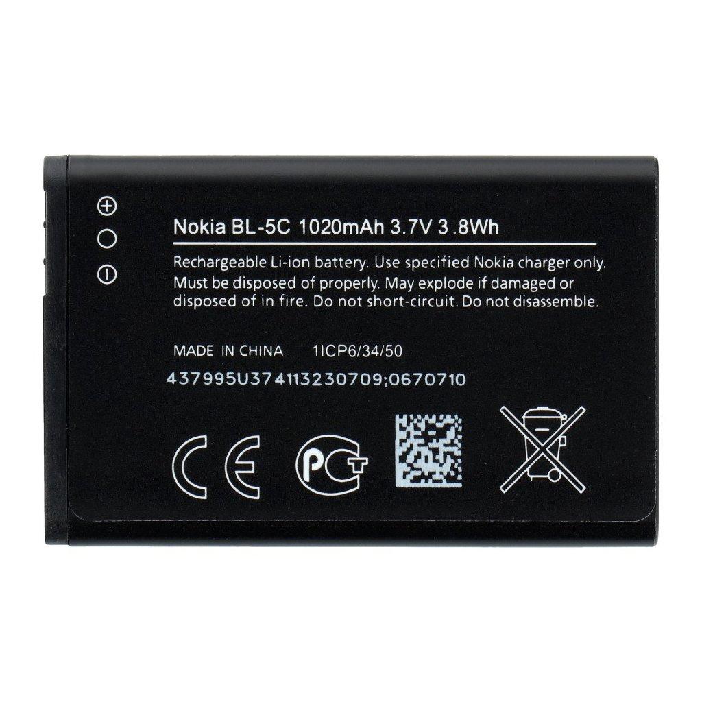 826 baterie nokia bl 5c 1020 mah original new bulk
