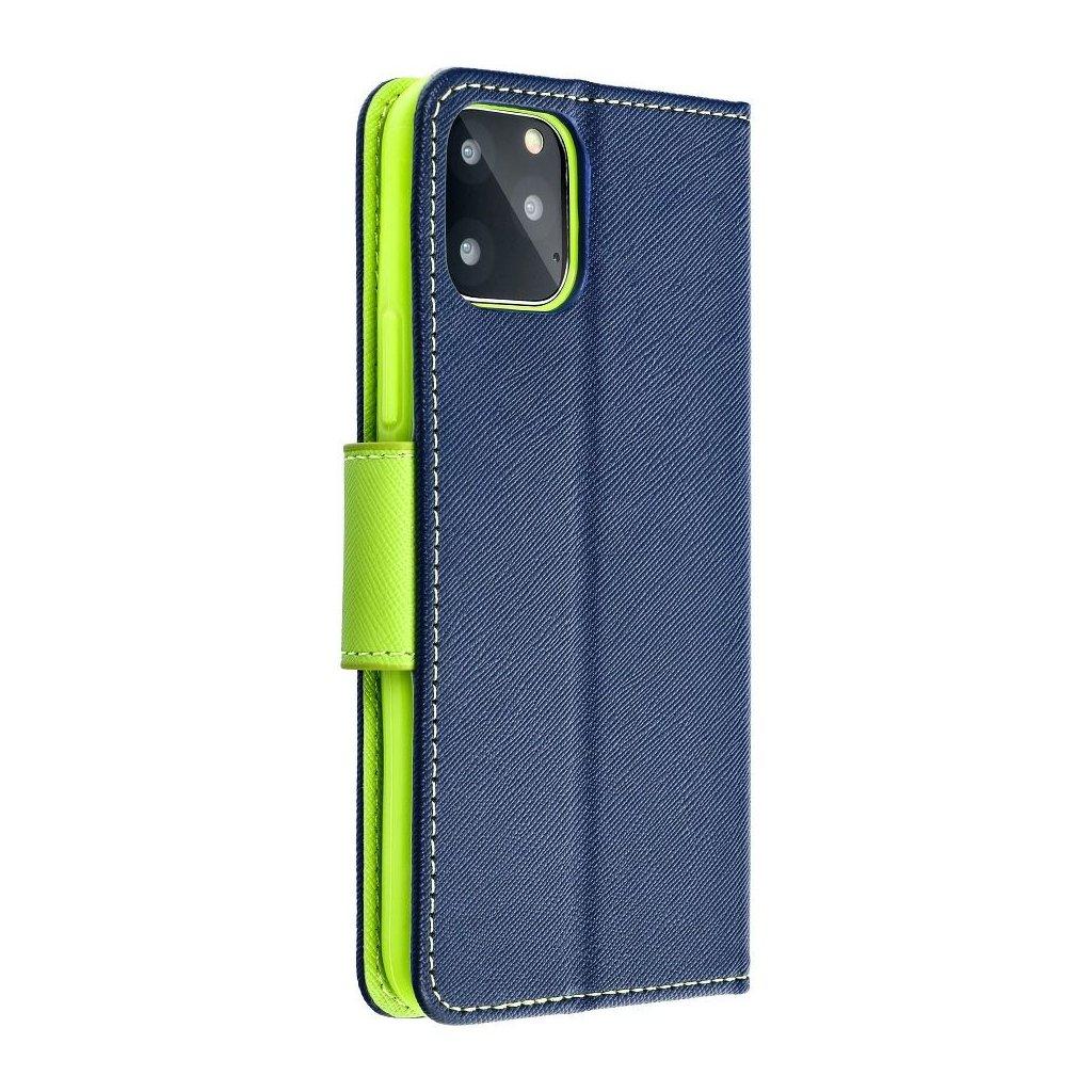 48680 fancy pouzdro book apple iphone 7 modre limetkove