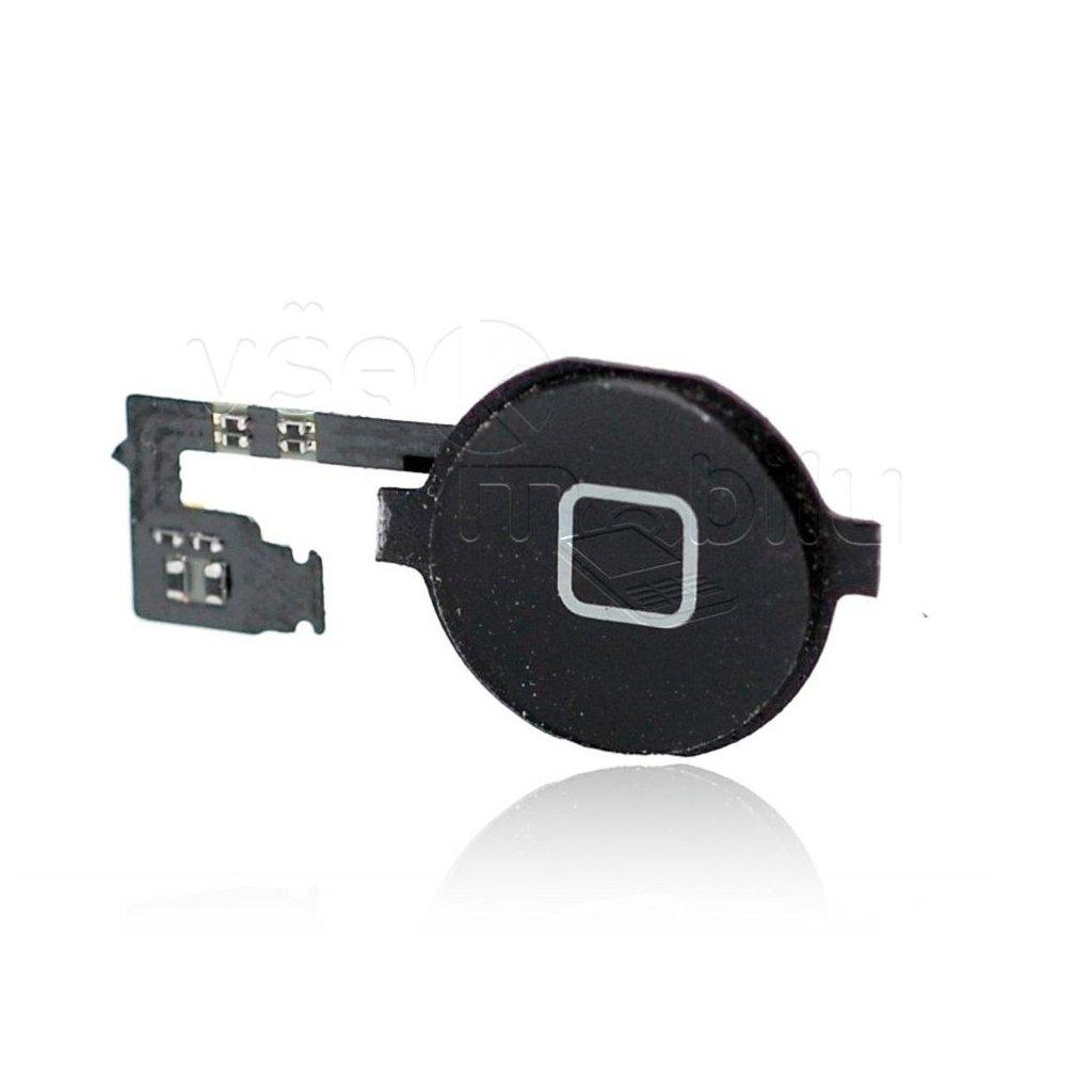 flex kabel tlacitka home pro iphone 4s tlacitko black cerne w1200 cfff