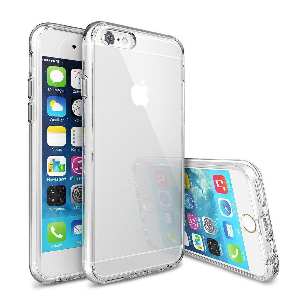 71668 2 forcell pouzdro back ultra slim 0 5mm pro apple iphone 6 6s plus transparentni