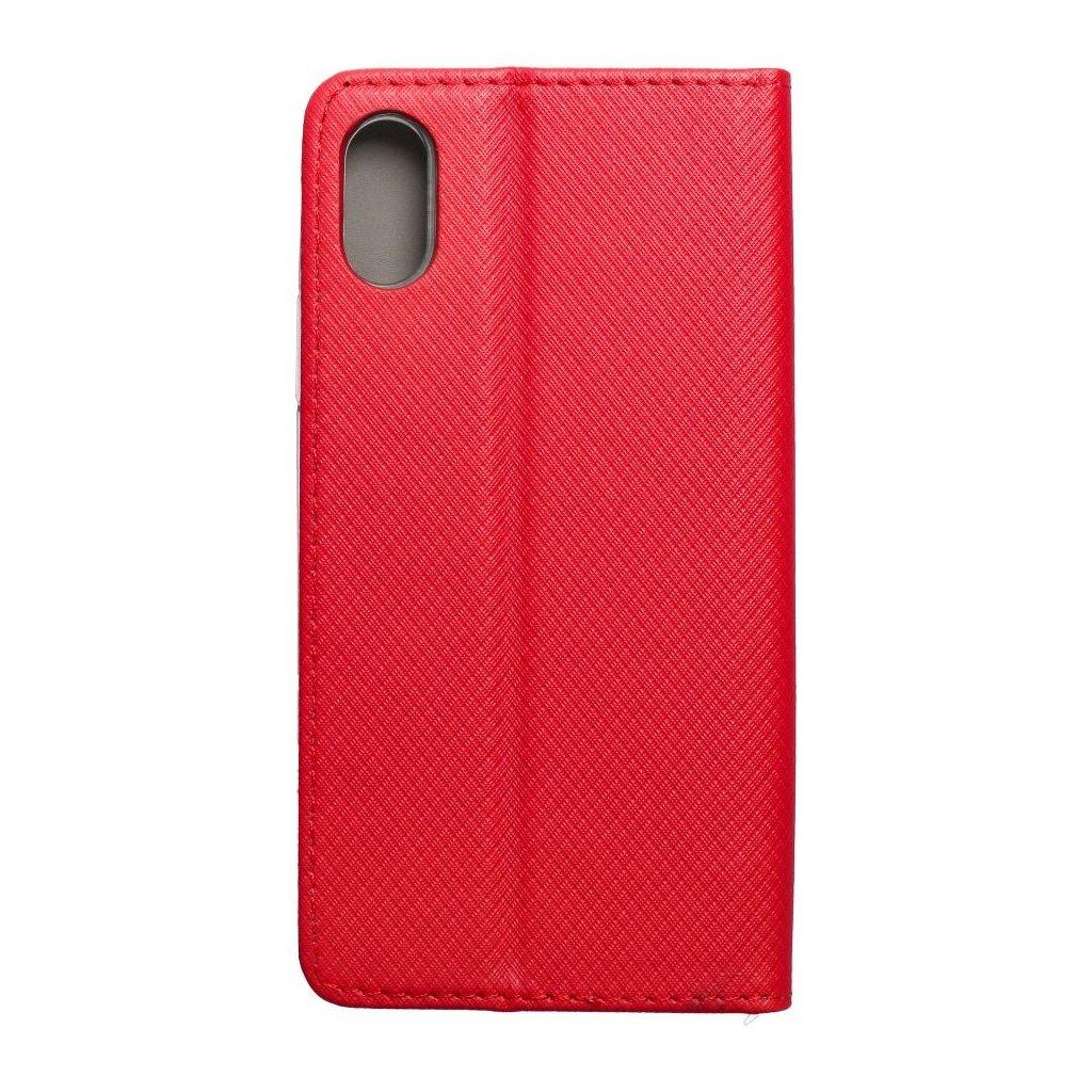 69273 2 forcell pouzdro smart case book pro apple iphone x cervene