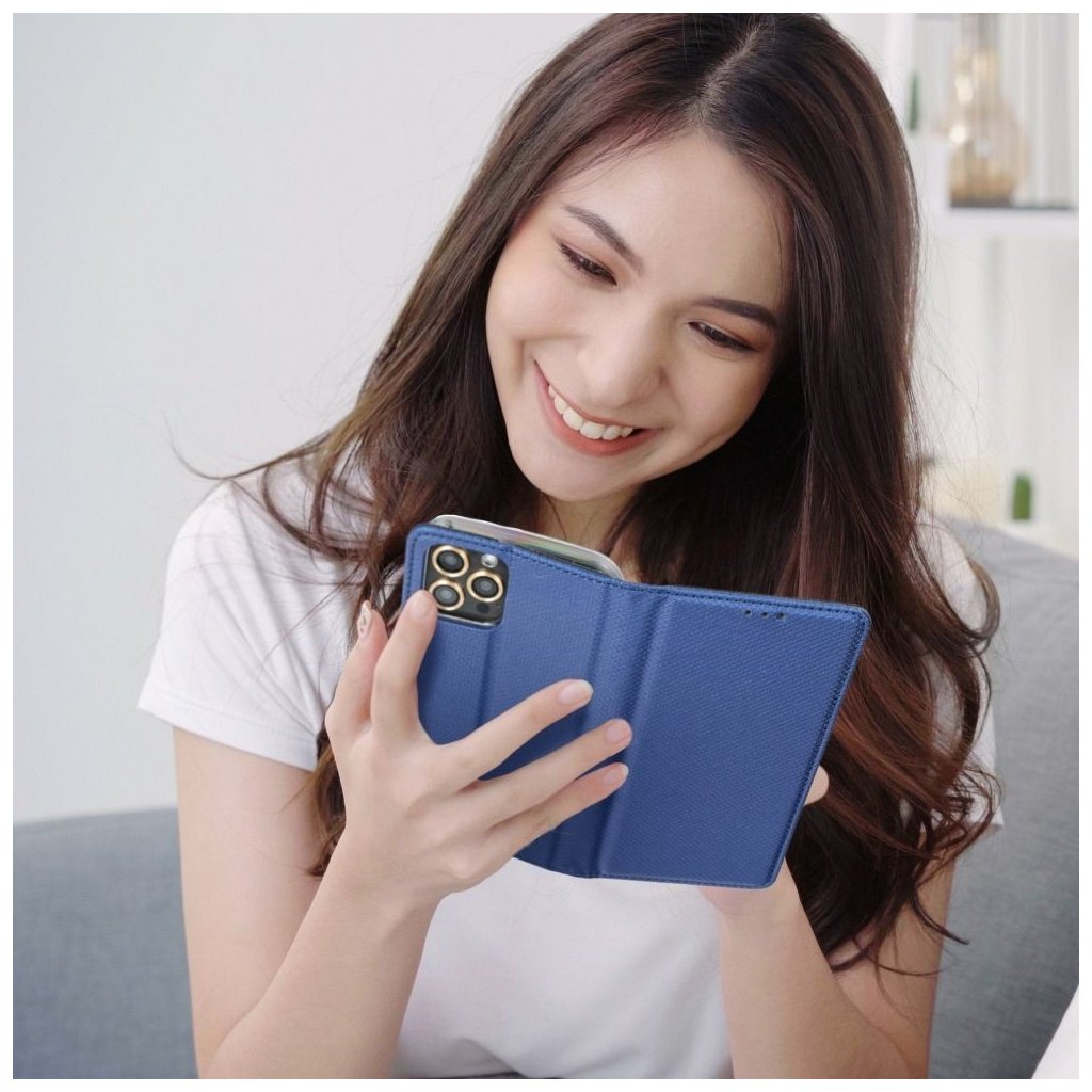 69066 1 forcell pouzdro smart case book pro apple iphone x modre