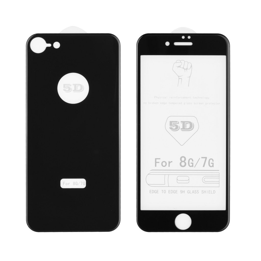 71521 1 forcell tvrzene sklo 5d full glue predni zadni pro apple iphone 8 4 7 cerne