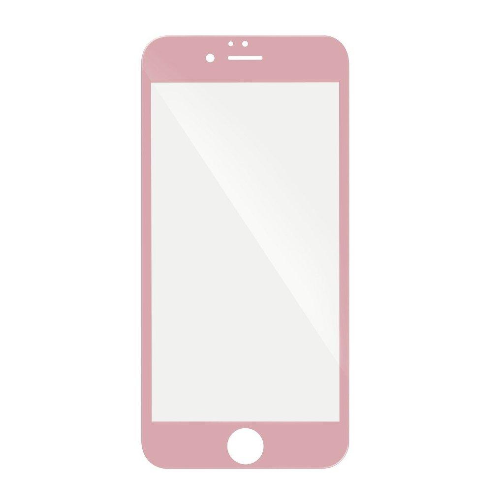 68747 forcell tvrzene sklo 5d hybrid full glue glass apple iphone 6 6s plus ruzove