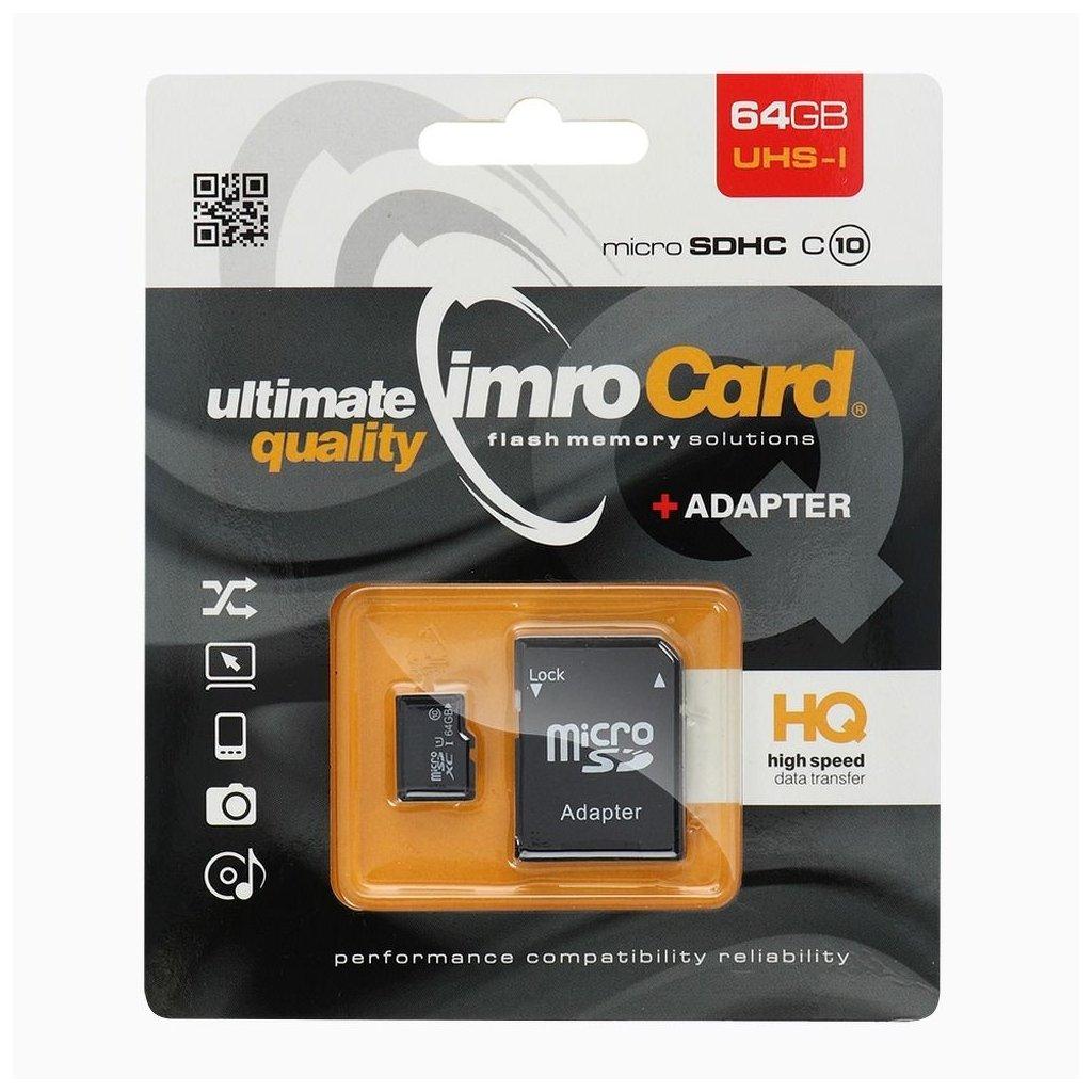 8074 imro microsdxc 64gb class 10 s adapterem na sd