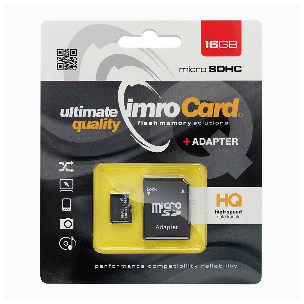 12076 pametova karta imro 16gb microsdhc class 10 uhs adapter sd