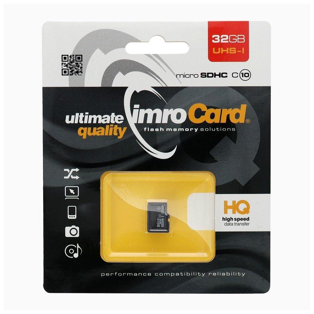 83199 pametova karta imro 32gb microsd class 10 uhs bez adapteru sd blister