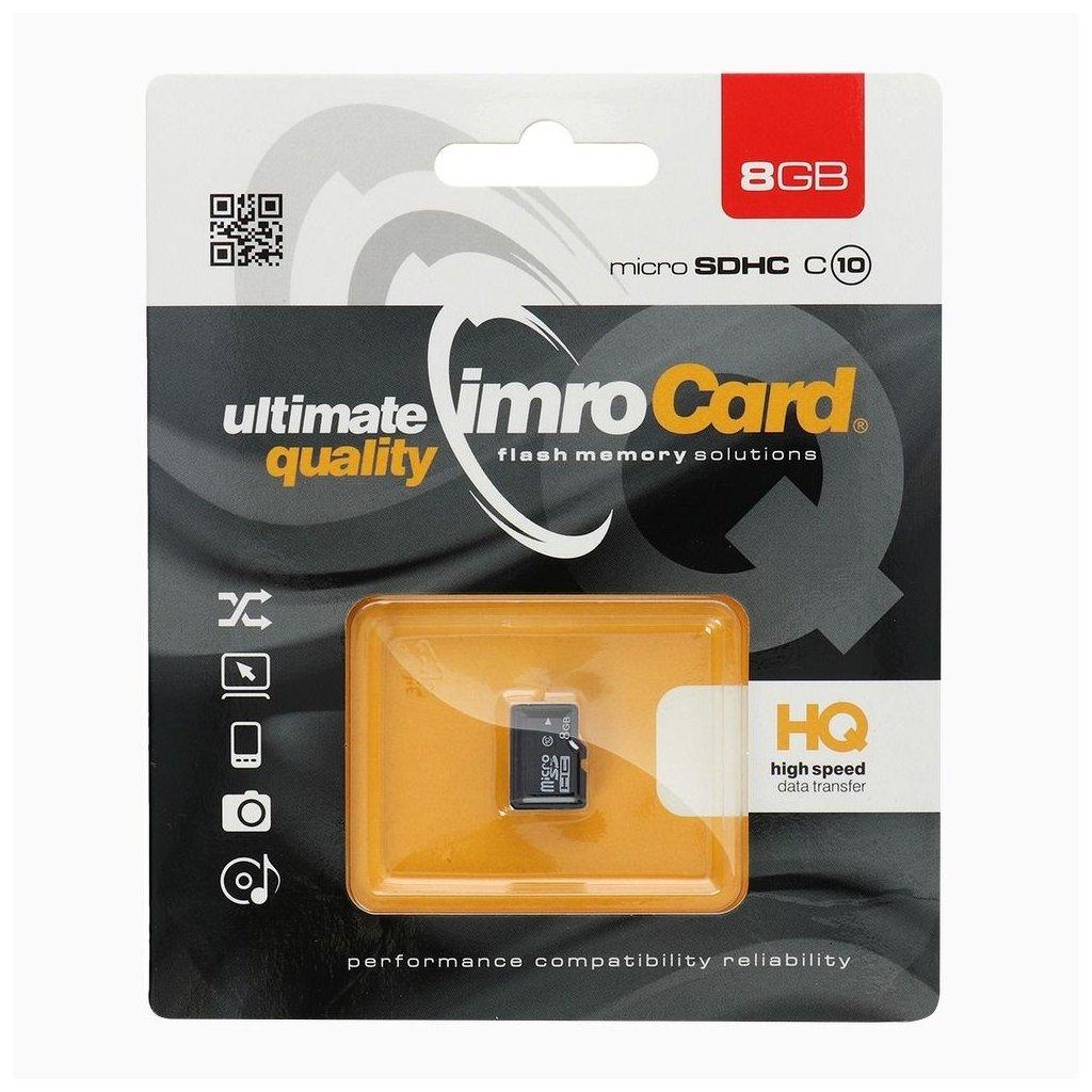 83187 1 pametova karta imro 8gb microsd class 10 uhs bez adapteru sd blister