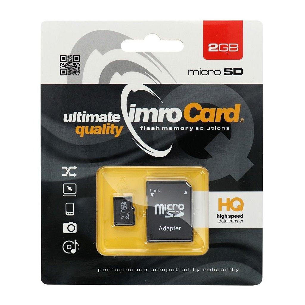 12079 pametova karta imro microsd 2 gb adapter sd blister