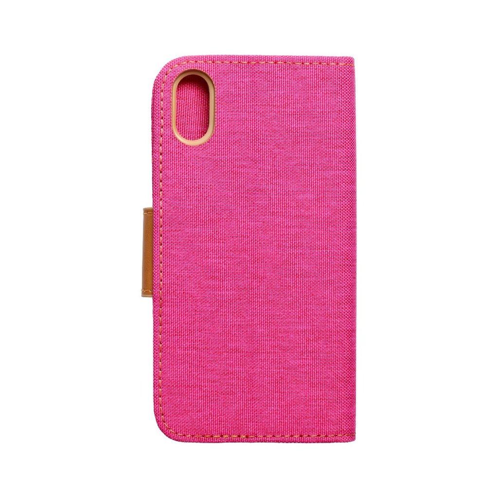 104342 3 pouzdro canvas book apple iphone xs 5 8 ruzove