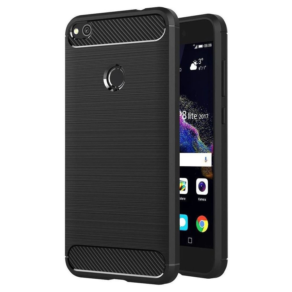 70470 pouzdro forcell carbon back cover pro huawei p8 lite 2017 cerne