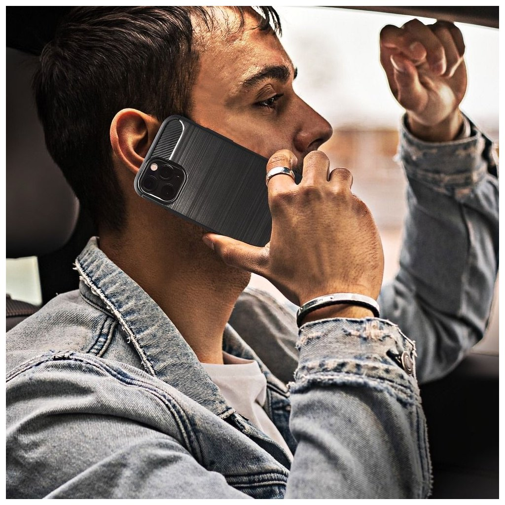 88677 1 pouzdro forcell carbon huawei p smart cerne