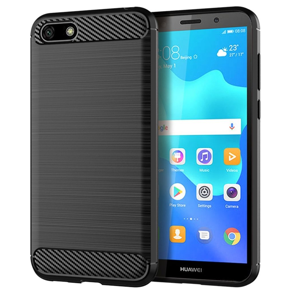 88779 3 pouzdro forcell carbon huawei y5 2018 cerne
