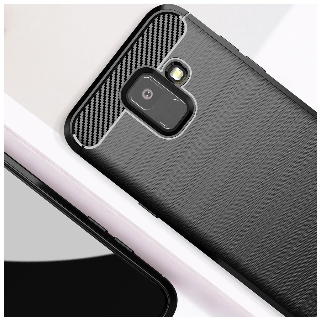 88743 3 pouzdro forcell carbon samsung galaxy a6 cerne