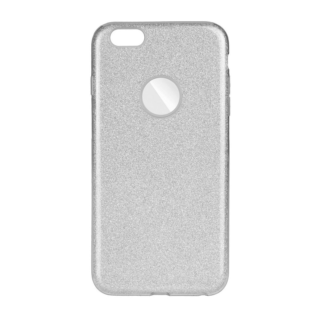66469 1 pouzdro forcell shining apple iphone 6 plus stribrne